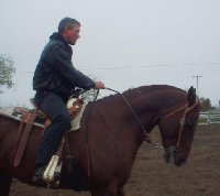This is me, with my quarterhorse, Jet Equipt.